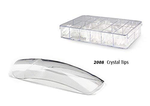 100pcs Artificial Nails Box - 10 Sizes - 100x Crystal/Clear Tips 2008 EuBeCos