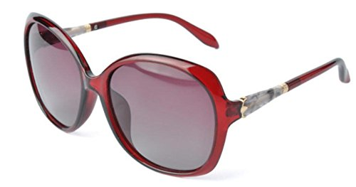 Mujer Red Moda Gafas Shopping Viajes De Sol De Gafas Sol Party wOvq7TxE