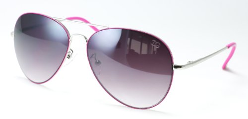 IG Metal Fashion Aviator Sunglasses in Silver/Hot - Sunglasses Pink Hot Aviator
