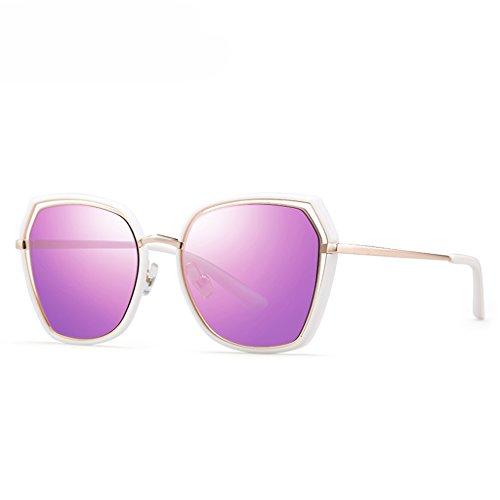 de de polarisé Lunettes lunettes soleil dame visage femmes rondes Lavande lunettes soleil Z8x77dqSnw