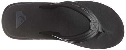 Quiksilver Men Carver Nubuck Flip Flops, Brown, 8 UK Black (Solid Black Sbkm)