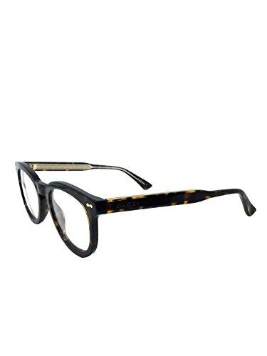 Gucci frame (GG-0183-O 006) Acetate Dark Havana - Transparent Crystal (Gucci Brille Frames Für Frauen)