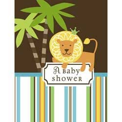 king of the jungle baby shower invitations boy baby