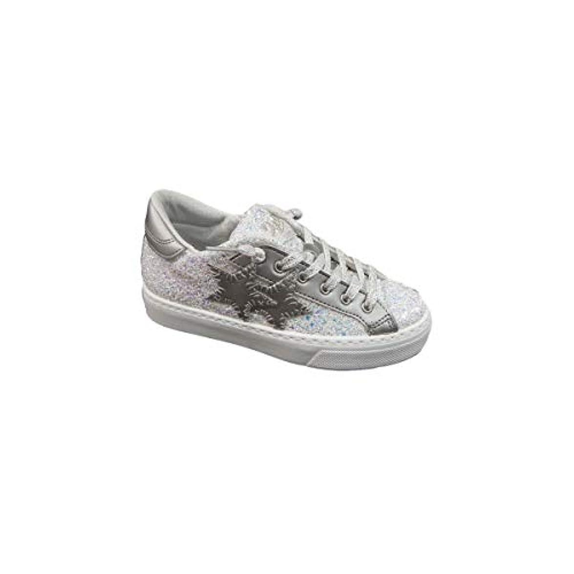 Two Stars Sneakers Glitterata Con Platform Basso
