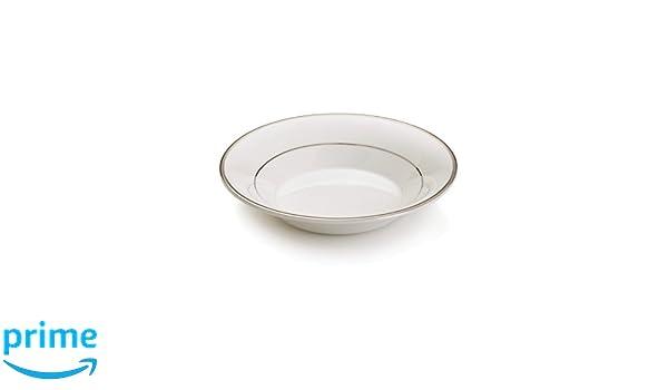 Mikasa Cameo Platinum HK301-220 Rim Soup Bowl in White