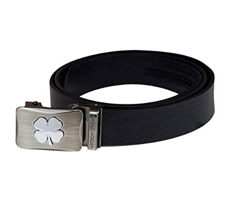 (Black Clover New Country Club Cut-to-Fit Black Belt w/Rachet System)