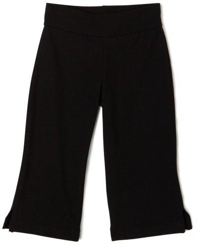 Capezio Little Girls' Capri Pant,Black,S (4-6)