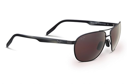 Maui Jim Castles Sunglasses - Polarized Satin Dark Gunmetal/Maui Rose, One - Jim Maui Castles