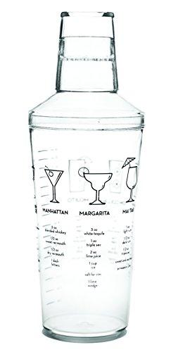 True 2882 bulk Maraca 16 Ounce Recipe Cocktail Shaker, - Drink Shaker Plastic