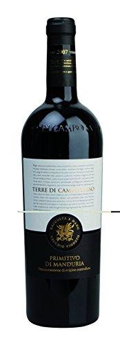 12x 0,75l - 2015er* - Terre di Campo Sasso - Primitivo di Manduria D.O.C. - Apulien - Italien - Rotwein trocken