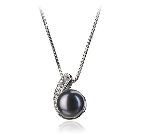 Claudia Black 7-8mm AA Quality Freshwater 925 Sterling Silver Cultured Pearl Pendant For Women (Pendant Necklace Pearl Fw)