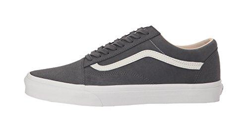 Vans Unisex Vansbuck Old Skool Asphalt/Blanc de Blanc Sneaker - 8.5