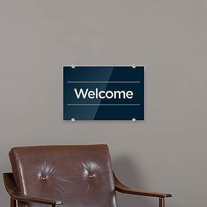 Welcome 27x18 Basic Navy Premium Acrylic Sign CGSignLab