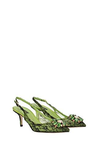 Sandalias Dolce&Gabbana Mujer - Encaje (C19002AF594) EU Verde