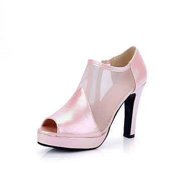 Le donne sexy elegante sandali donna tacchi Primavera Estate Autunno altri PU Casual Chunky Heel zip rosa Verde Rosso Bianco luce verde , bianco , us5.5 / EU36 / uk3.5 / CN35