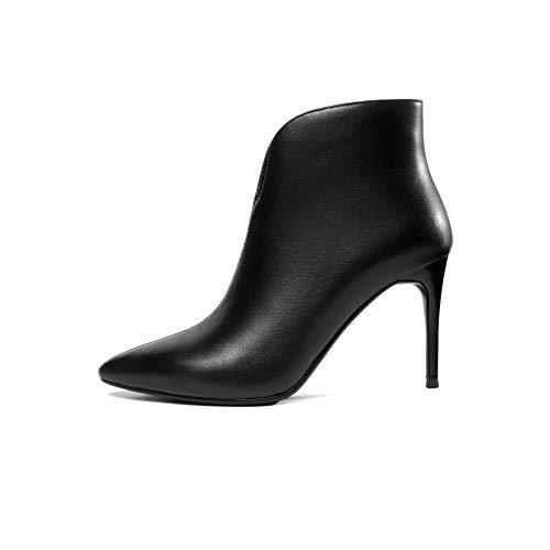 Courtes à Stiletto Femme Black Pointus pour Talons Bottines qf1dwOq