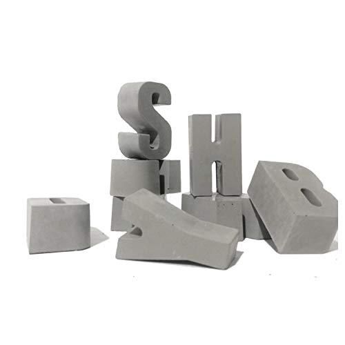 concrete door number silicone mold Cement alphanumeric gate number business hours card concrete ornaments Decoration -