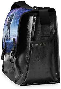 メッセンジャーバッグ メンズ 宇宙飛行士 星空 クール 斜めがけ 肩掛け カバン 大きめ キャンバス アウトドア 大容量 軽い おしゃれ