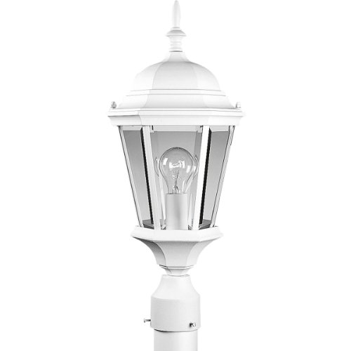 Progress Lighting P5482-30 Cast Post Lantern with Clear, Beveled Glass, Textured (Post Lights Progress Lighting)