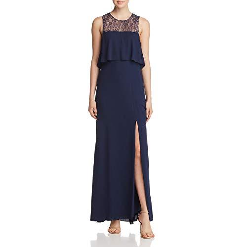 Bcbg Tiered Dress - BCBG Max Azria Womens Formal Sleeveless Evening Dress Navy 8