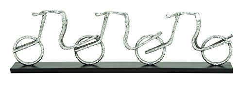 picture of Benzara Beautifully Designed Aluminum Cycle Table Decor