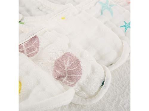 Babero infantil Toalla babero babero impermeable babero impermeable para bebés y niños pequeños de la toalla bebé saliva bebé (patrón de estrella de mar) ...