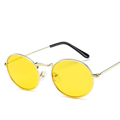 (BAIF Oval Frame Sunglasses Trend Sunglasses net red Fashion Glasses Men and Women Sunglasses)