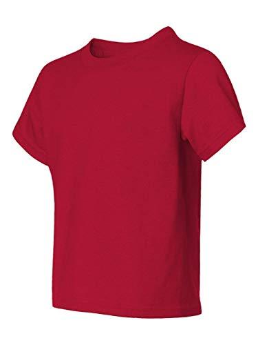 (Jerzees Youth 5.6 oz.; 50/50 Heavyweight Blend� T-Shirt - TRUE RED - XS)