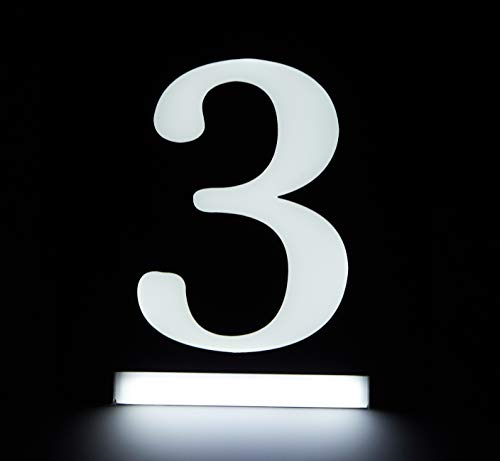 - HOMIDEA Backlit Led House Numbers. Light Up House Numbers. Personalized Lighted Address Signs for Houses, Illuminated House Numbers, Address Light Numbers for Houses - Number 3