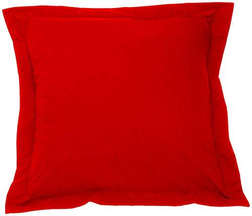 European Square Pillow Shams Set of 2 Pillowcase Euro Shams 26x26 Red Pillow Covers - Luxury 550 TC European Pillow Shams 100% Egyptian Cotton ,Gorgeous Euro Size Decorative Pillow cover/Cases