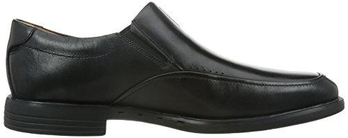 Clarks UnBizley Lane Mens Formal Shoe in Black Leather Black Leather