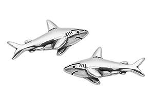 Sterling Silver Shark Stud Earrings