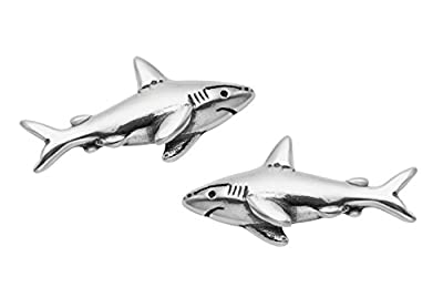 Sterling Silver Shark Stud Earrings