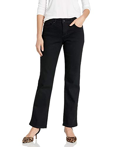 Bandolino Women's Mandie Signature Fit 5 Pocket Jean, Saturated Black,10 Short
