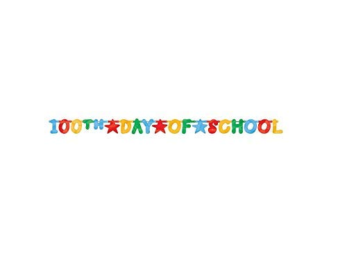 100th Day of School large foil letter banner ()