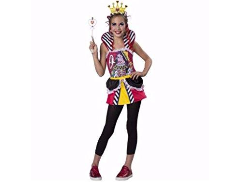 Queen Of Hearts Costume Walmart (Girls Queen of Hearts Halloween Costume 5 Piece Set Size Large 10-12)