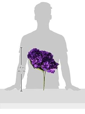 LSD Artificial Silk Fake 5 Heads Flower Bunch Bouquet Home Hotel Wedding Party Garden Floral Decor Hydrangea