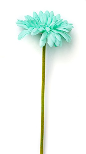 CraftMore Mint Colored Gerbera Daisy Stems 14 Inch Set of 12