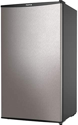 hOmeLabs Mini Fridge - 3.3 Cubic Feet Under Counter Refrigerator with Small Freezer - Drinks Food Beer Storage for Office, Dorm or Apartment with Removable Glass Shelves