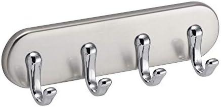 Amazon Com Idesign York Bpa Free Plastic Magnetic 4 Hook Key Rack 1 2 X 7 X 5 5 Brushed Chrome Home Kitchen