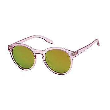 Sonnenbrille Panto 400 UV verspiegelt bunt transparent Schlüssellochsteg T3WmqrKqp