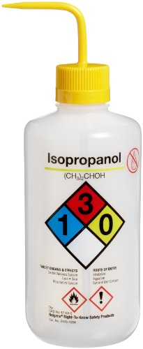 NALGENE 2425-1004 LDPE Right-To-Know Isopropanol Safety W...