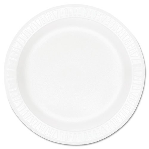 Dart 10PWCR 10.25 in White Unlaminated Foam Plate (Case of 500) ()