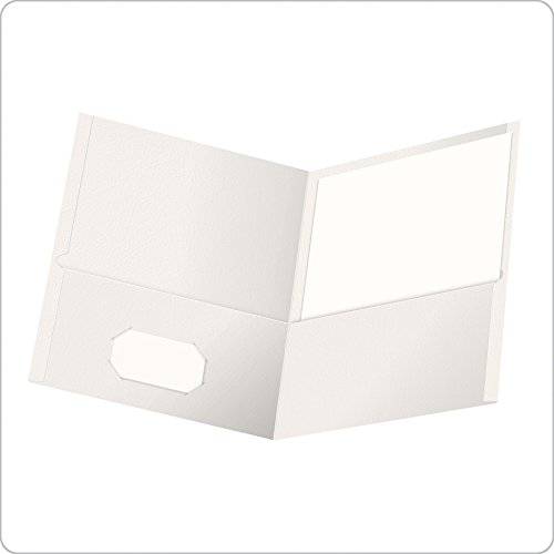 Oxford Twin Pocket Folders, Letter Size, White, 25 per Box (57504EE)