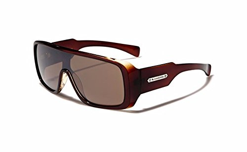 Biohazard Large Shield Mens Futuristic Goggle Style Designer Celebrity Sunglasses, Brown, - Goggles Futuristic