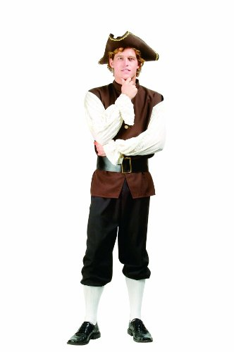 RG Costumes Men's Colonial Peasant, Brown/White One Size ()