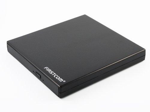 Firstcom Einschub Gehäuse für Slimline 12,7mm Trayload Schubladen Blu-Ray/DVD/CD Laufwerke USB 2.0 Schwarz (Slimline IDE)