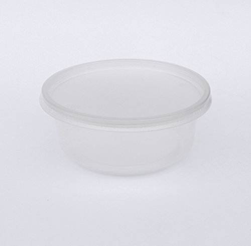 100 Clear Deli Containers, Durable Plastic Storage