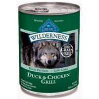 Blue Buffalo Wilderness Grain Free Canned Dog Food, Duck and Chicken Grill (Pack of 12 12.5-Ounce Cans), My Pet Supplies