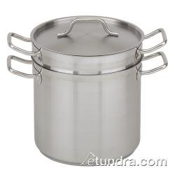 Royal Industries Double Boiler with Lid, 8 qt, 9.4'' x 7.5'' HT, Stainless Steel, Commercial Grade -  NSF Certified